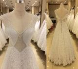 Vestidos de casamento superiores europeus do comprimento do assoalho da venda