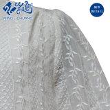 Il Flower&Plants-Reticolo lavorato a maglia bianco mette liberamente la camicetta in cortocircuito delle donne rotonde del collare del manicotto
