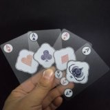 PVC transparente Playingcards do póquer do PVC