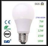 Iluminação econômica Lâmpada LED 7W para sala interior