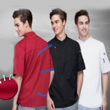 Uniforme lunga uniforme del cuoco unico del manicotto del ristorante degli uomini per il caffè del ristorante