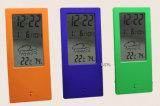 Будильник перемещения LCD с индикатором погоды, термометром, влагомером для отечественной пользы