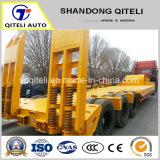 Matériel de transport 60 tonne Semi-Trailer Lowbed Remorque à col de cygne faible charge