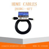 Cavo del Maschio-Maschio HDMI della spina placcato oro