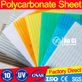 Folha ondulada de policarbonato transparente Bayer Makrolon para a clarabóia do telhado
