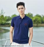chemise de polo du Mens 100%Cotton avec le logo fait sur commande de broderie