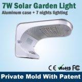 Super Bright LED Solar Motion Wall Light Lâmpada ao ar livre para casa com iluminação branca e pura