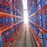 Rack de armazenamento com feixe de caixa