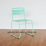 (SP-MC097)バルコニーのレストランのための卸し売りスタック可能真新しい緑の金属の椅子