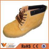 De gele Schoenen van de Veiligheid van de Werkman van het Leer van de Koe Nubuck Industriële