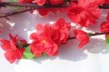 Flores artificiales de la flor de melocotón Flores falsa para la decoración del hogar