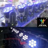 indicatore luminoso capo mobile della strumentazione della fase della discoteca della fase di 7X10W LED