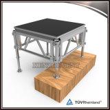 Fase de alumínio plataforma portátil ao ar livre com pernas ajustáveis