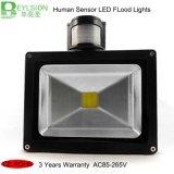 luces de inundación de la seguridad del sensor de movimiento de 10W 20W 30W 50W PIR LED