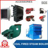 Caldeira de viagem dobro de carvão do combustível da grelha da baixa pressão do cilindro