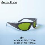 Beschermende brillen 755&808&1064nm Nd van de Bril van de Veiligheid van de laser: Veiligheid van de Laser van de Glazen van de Veiligheidsbrillen van de Laser van het Oog YAG de Medische met de Stijl van de Sport