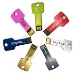2017 Popular Gift Key Shape Free Laser Print Logo USB Flash Drive Logo personnalisé