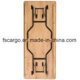 30 '' w X 72 '' L überzogene fertige Oberseite des rechteckiges Holz-faltende Bankett-Tisch-W/Clear (CGT1611)
