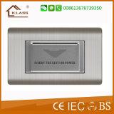 Interruptor de mirada agradable de la pared de la tarjeta dominante de pieza inserta para el hotel