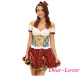 大人ビール庭の女の子の衣裳