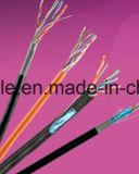 Cable de LAN de UTP Cat5e con la inundación (paso de la platija)