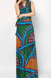Fashion African Kitenge Dress Designs Femmes Summer Long Dresses