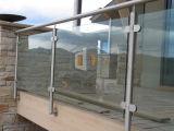 Pasamano de cristal modificado para requisitos particulares del balaustre de la barandilla de la barandilla del acero inoxidable