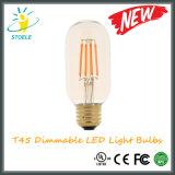 T45 8W E27 240V de Gloeilamp van LEIDENE Edison LED van de Bol