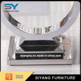 アメリカデザインステンレス鋼Uの形MDFのソファーの端表