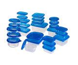 Sqaure Plastik nimmt Microwavable Nahrungsmittelbehälter 34oz weg