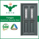 Porte de luxe en verre en aluminium de qualité
