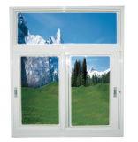 Finestra di scivolamento di alluminio di colore del Brown e di bianco con vetro Tempered