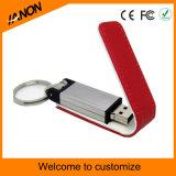 사업 장방형 가죽 USB 섬광 드라이브