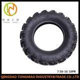 Qualität gebildet den Gummireifen in der China-Landwirtschafts-Maschinerie-Teil-7.50X16 für landwirtschaftliche Maschinerie