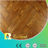 Relieve 8.3mm Maple V ranurado filo encerado piso laminado