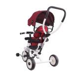 Трицикл младенца стальной рамки колес оптовой продажи 3 с сенью