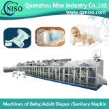 Machine à couches de bébé à demi-serviette haute vitesse avec SGS (YNK400-HSV)