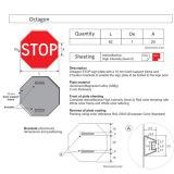 高い反射アルミニウム停止八角形のトラフィックの危険信号