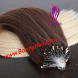 T van het Micro- van de Kleur de Uitbreiding Haar van de Ring, de Uitbreiding van het Micro- Haar van de Parel, het Maagdelijke Remy Menselijke Haar van 100%, Beste Kwaliteit, Concurrerende Prijs, Aangepaste Beschikbare Orde
