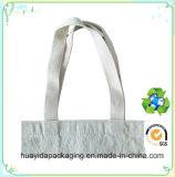 Saco branco impresso da lona do algodão da forma costume relativo à promoção por atacado, saco de Tote da lona
