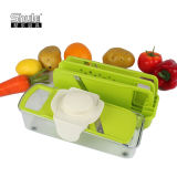 Тяпка пластичного Mandolin качества еды Vegetable с контейнером еды