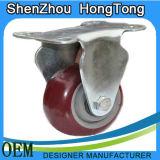 Patent-starke Stahlfußrolle mit Bremse