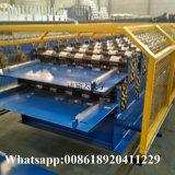 El panel de acero de la hoja del material para techos del hierro de la capa doble que hace la máquina