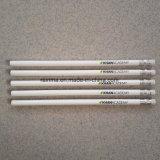 Lápis de madeira padrão do tambor branco com eliminador