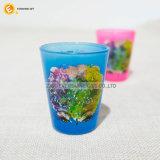 Het lichte Glas van de Kop van de Pint van de Vorst van de Druk van het Overdrukplaatje van de Kleur Roze