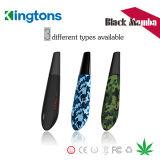 Kingtons E Kit de 1600mAh Ecig Vape Mamba Negra Pluma con hierba seca de la bobina 0.6ohm
