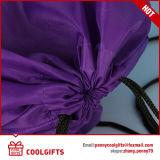 Sac de cordon imperméable à l'eau de mode du polyester 210d avec l'impression pour le cadeau
