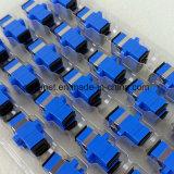 Adaptador óptico unimodal a una cara Telecom de fibra de la calidad Sc/Upc