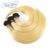 새로운 별 검정 루트 브라질 Virgin 머리 똑바른 금발 머리