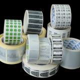 Aufkleber-Drucken-kundenspezifischer Aufkleber-selbstklebendes thermisches Papierpapier im Rollenpaket-Kennsatz